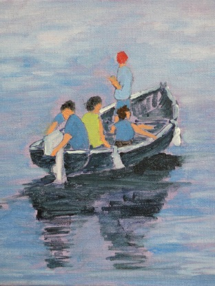 Four in the Boat Oil 180127