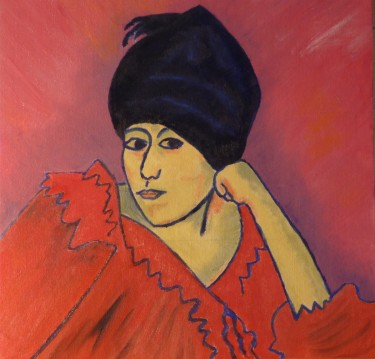 Lady in Turban, Oil on Canvas, After Jawlensky