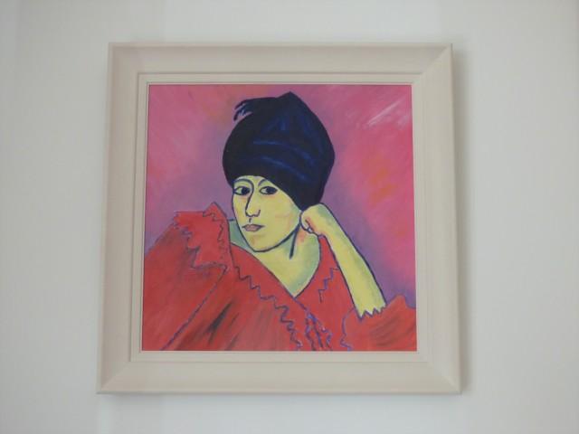 Lady in Blue Turban, 2019